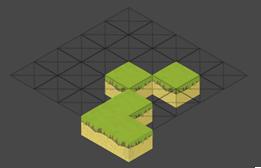 Mapa tiles hecho con editor de Unity tamaño 5
