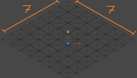 Grid entero con indicación de tamaño Editor de tiles